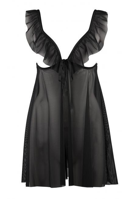 Эротический комплект: Бэби-долл и стринги на завязках Aubade Boite a Desir P043 noir
