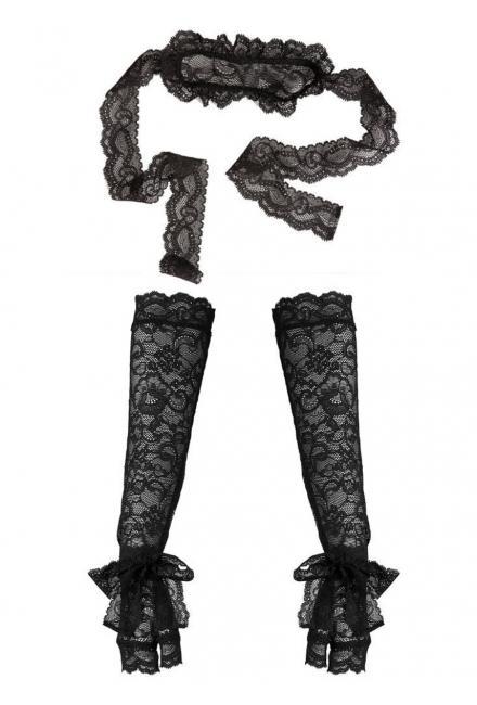 Эротический комплект : маска и перчатки Aubade Boite a Desir P081 noir