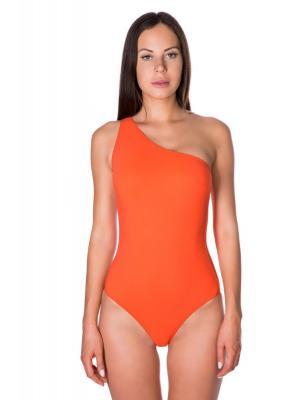 """Слитный купальник на одно плечо """"сицилийский апельсин"""" Bip-Bip BASTIA 19bu"""