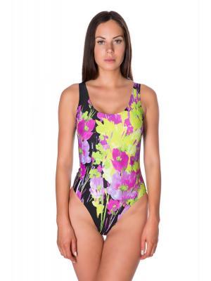 Слитный купальник цветной с однотонной спинкой Bip-bip Plage Exotique Catania