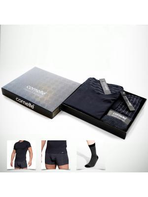 Подарочный мужской набор белья Cornette 300-04 (футболка, боксеры, носки)