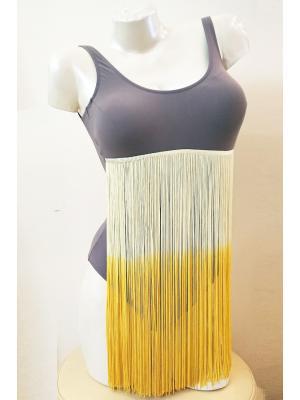 Купальник слитный с длинными нитями под грудью Curve Pericolose Soleil-90-50-deserto