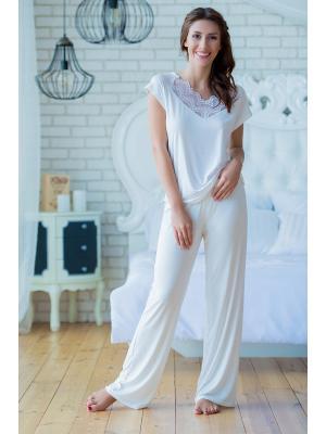 Пижама трикотажная с кружевом Ef 0212-e