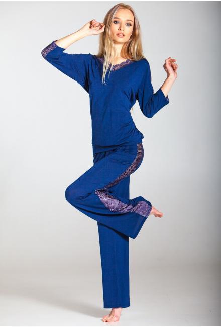 Пижама трикотажная с кружевом Ef-0262