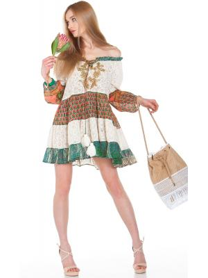Гипюровое платье с яркими ярусами FC1190a-1c