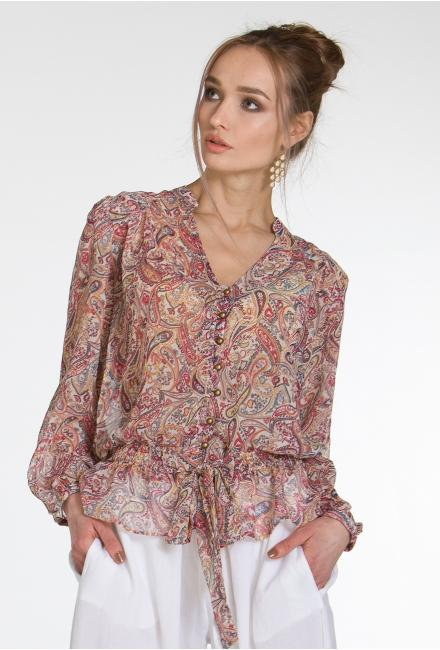 Блуза цветная, на пуговицах FC1296i-1ch