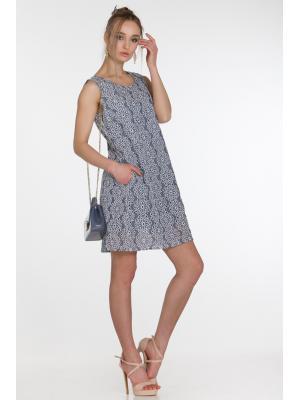 Платье из серо-голубого коттона без рукавов FC1600f-2с