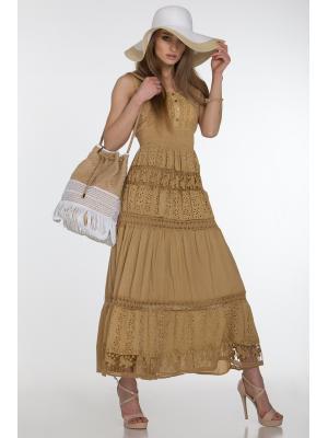Длинное платье-сарафан с лифом на пуговичках FC638f-2c