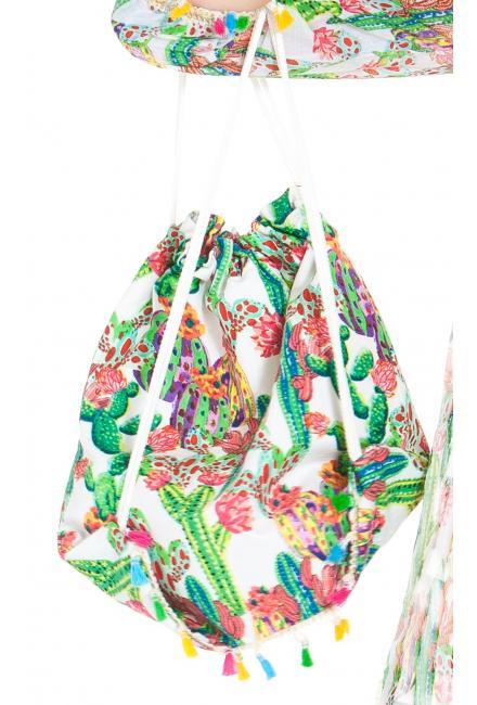 """Коттоновый рюкзак с принтом """"кактусы"""" FC1050a-1c"""