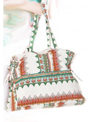 Коттоновая пляжная сумка с орнаментом FC1053-1C