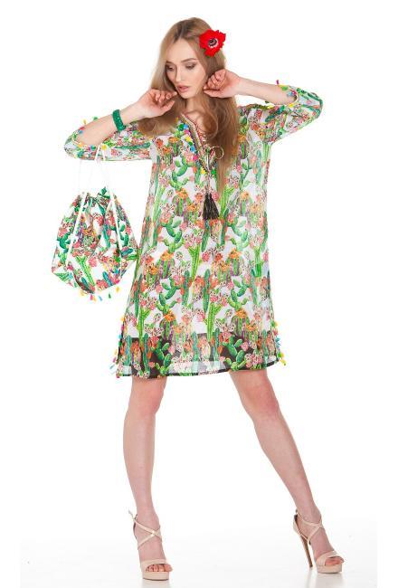 Платье-туника c принтом кактусы FC1149a-1c