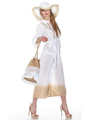Платье-рубашка c бежевым подолом FC1211A-1C