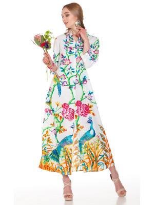 Платье-рубашка с цветочным принтом FC1215A-1C
