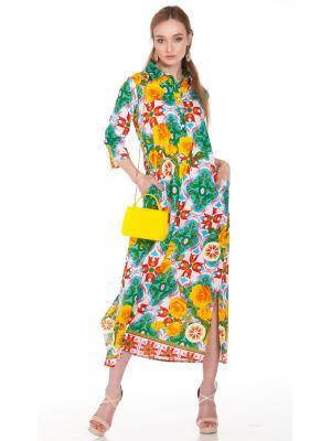 Платье-рубашка с ярким принтом FC1216A-1C