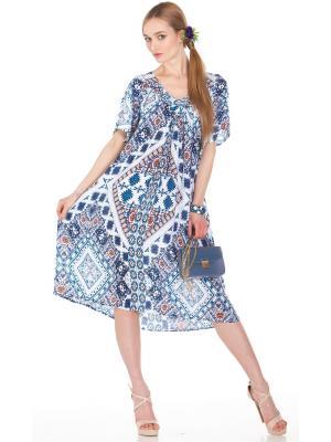 Платье-сарафан в сине-белых тонах FC1431i-1v