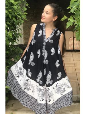Платье-сарафан темно-синее с белым FC714l-1v