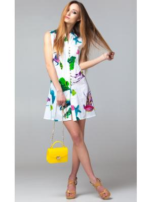 Платье-туника без рукавов на пуговицах FC106l-1c