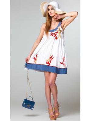 "Короткое платье-сарафан с аппликациями ""кораллы"" FC550a-1c"