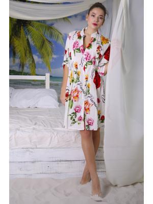 "Рубашка-туника с принтом ""розы"" i2135N-54C"