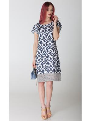 Платье гипюровое с серой полосой на подоле FC426L-1с