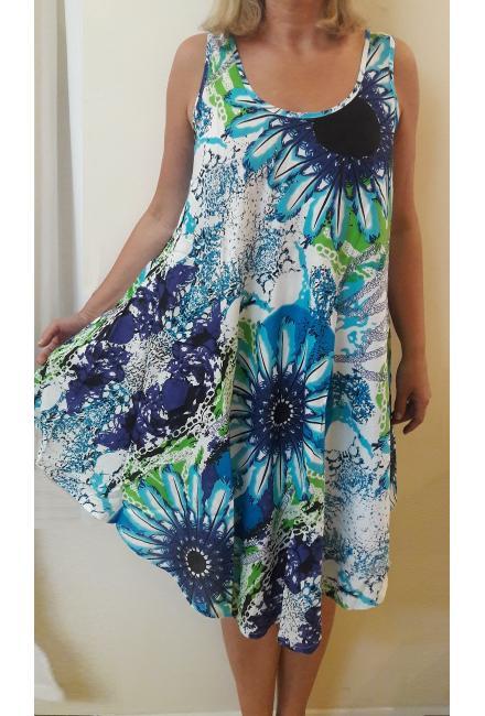 Платье-сарафан в сине-голубых тонах FC17224i-1v