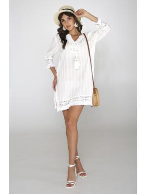 Платье-туника с кисточками и высокими боковыми разрезами 2190a-1C