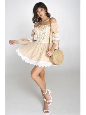 Платье-туника с открытыми плечами  2368A-6C
