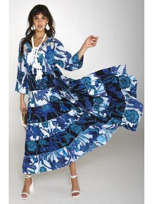 Платье-макси многоярусное 2557A-92C