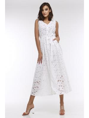 Длинное белое платье 21F-029C