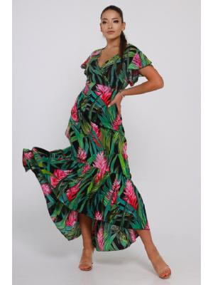 Платье с глубоким вырезом 21A-208 1V