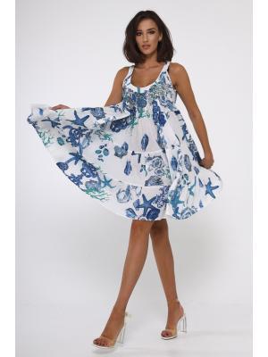 Короткое платье-сарафан с с бисером  по лифу 21A-231/1C