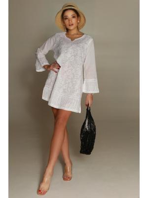 Платье-туника с белой вышивкой FC1341F-1c