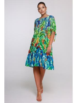 Платье-туника с оборкой  21NI-322-3V