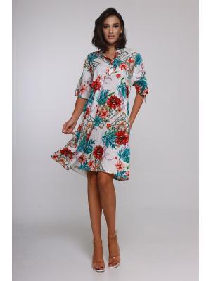 Платье-туника свободного кроя  21NI-348C