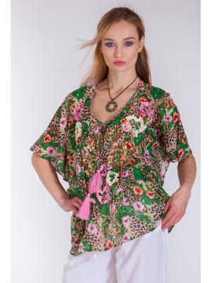Блуза-туника с вышивкой бисером и пайетками FC1136a-1C