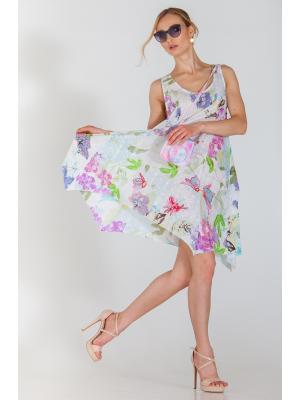 Платье-сарафан A-силуэта в пастельных тонах FC1428l-1с