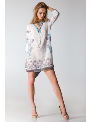 Платье-туника батистовое с орнаментом FC1133a-1c