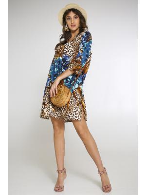 Платье-туника c леопардовым принтом 2131N-29C