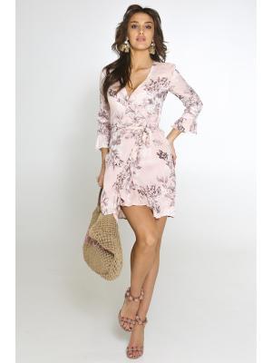 Платье розовое на запах 2323N-72V