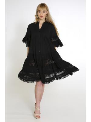 Платье-туника многоярусное с защипами и пуговицами FC2502f-3c