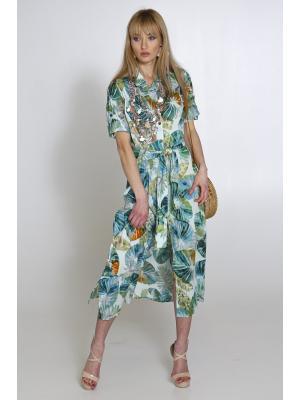 Платье-туника в зеленых тонах 2527N-28C