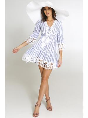 Платье-туника с кружевными аппликациями 2105F-8C