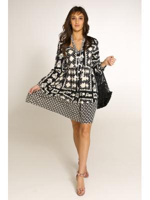 Платье-туника с V-образным вырезом 8936