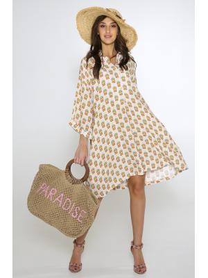Платье-туника со цветочным принтом L0963-b