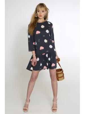 Платье-туника с рюшей Lumina L1063