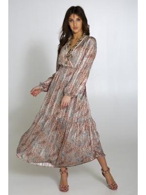 Платье с V-образным вырезом LUMINA L0937