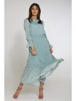 Платье в ромбик LUMINA L1011