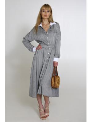 Платье-миди в полоску Wiya 10385