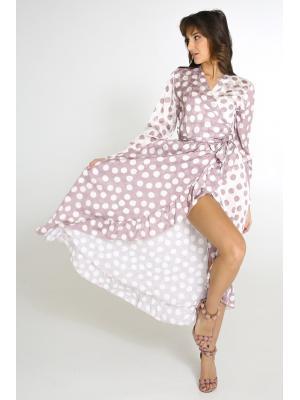 Платье в крупный горох Wiya 19099 rosa