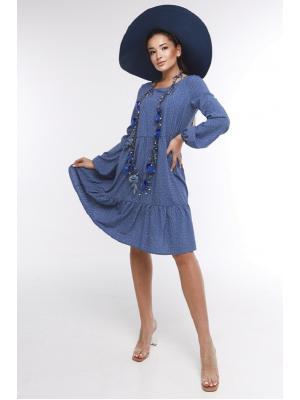 Платье многоярусное 127-blue